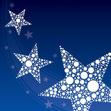 Star Background. An illustration of star shaped abstract background Royalty Free Stock Image