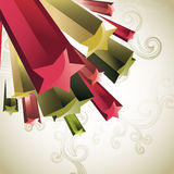 Star background. Abstract star background with swirls Royalty Free Stock Image