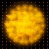 Star background. Vector illustration of golden Star background on black Royalty Free Stock Images