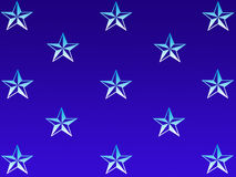 Star background. Stars on gradient blue background Royalty Free Illustration