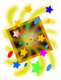 Star background. Illustration of colourful star background Stock Photography
