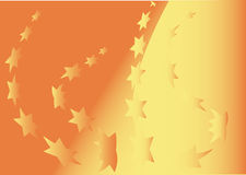 Star background. Oranbe background with a lot of star Royalty Free Stock Photography