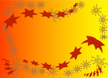 Star background. Background with stars and snowflakes Stock Photos