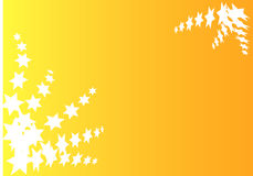 Star background. Oranbe background with a lot of star Stock Image