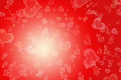 Star background. Abstract red background with lot of hearts Stock Photo