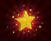 Star background. Vector illustration of a glowing star Stock Images