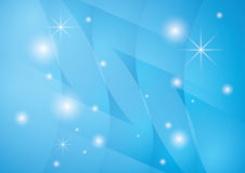 Star background with blue abstractions - vector Stock Images