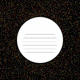 Star background card. Text frame with Scattered tiny stars. Plain flyer with stars symbols. Abstract star texture Royalty Free Stock Photos