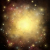 Star Background. A Star Cloud Explosion Background with Bright Glow Royalty Free Stock Photos