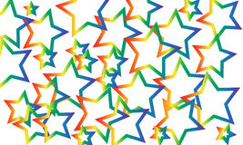 Star background. Colored star background  illustration Stock Photography