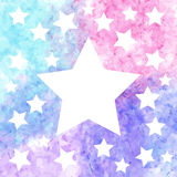 Star background in colorful watercolor Royalty Free Stock Photo