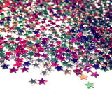 Star background with copy space. Close up. Scatter. Stock Photo