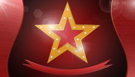 Star background ,illustration. Star and cinema background ,best illustration Stock Photography