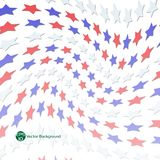 Star background with red blue white color illustration vector Royalty Free Stock Photography