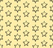 Star background. Seamless pattern with doodle star shapes. Christmas background doodle for a wrapping paper Stock Photos