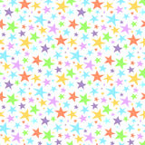 Seamless star pattern and background vector illustration Royalty Free Stock Photo