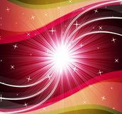 Star Background Shows Bright Stars And Ripples Stock Photo