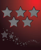 Star background vector. A vector background of a star floating in the sky Stock Photography