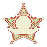 Star badge with a banner Royalty Free Stock Photography