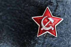 Star badge from former soviet union Royalty Free Stock Images