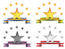 Star badges Royalty Free Stock Image
