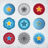 Star badges Royalty Free Stock Photography