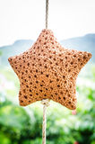 Star baked clay Handicrafts Royalty Free Stock Image