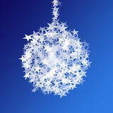 Star ball. Against blue background Royalty Free Stock Photo
