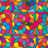 Star ball colorful symmetry seamless pattern Royalty Free Stock Images