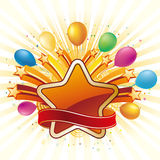 star and balloon celebration Stock Photography