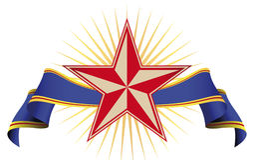 Star Banner Stock Image