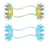 Star banner. Vector illustration isolated on white background rainbow and icy stars Royalty Free Stock Photo