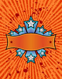 Star banner orange Stock Images