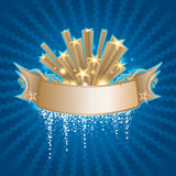 Star banner. Starry banner on the blue background Royalty Free Stock Photo