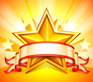 Star banner. Royalty Free Stock Images