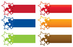 Star Banners. A set of colourful star banners Vector Illustration