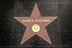 The star of Barbra Streisand Royalty Free Stock Photo