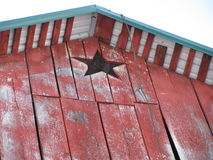 Star on the Barn Stock Photo