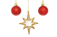 Star and baubles Stock Image