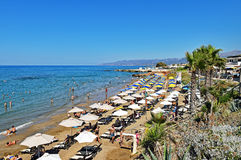 Star Beach of Hersonissos on the island of Crete in Greece Stock Image