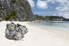 Star Beach during Island Hopping from El Nido Stock Images