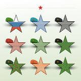 With star berets, combat arms February 23 may 9.  Royalty Free Stock Images