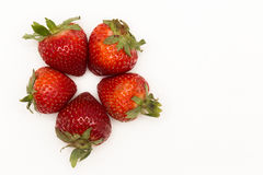 The Star Berry. A star formed by Strawberries Stock Images