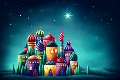 Star of Bethlehem. Digitale illustration Stock Illustration