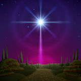 Star of Bethlehem. EPS 10, contains trasparency, contains mesh Stock Image
