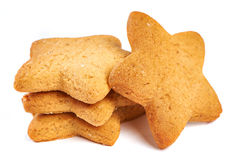 Star biscuits isolated Stock Photo