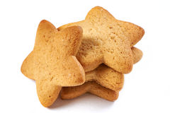 Star biscuits isolated Stock Photos