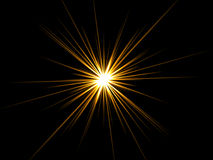 Star on a black background. Stock Photos