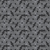 Star black line Japanese asanoha isometric seamless pattern Royalty Free Stock Photos