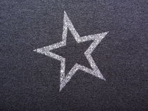 Star on black Royalty Free Stock Photography